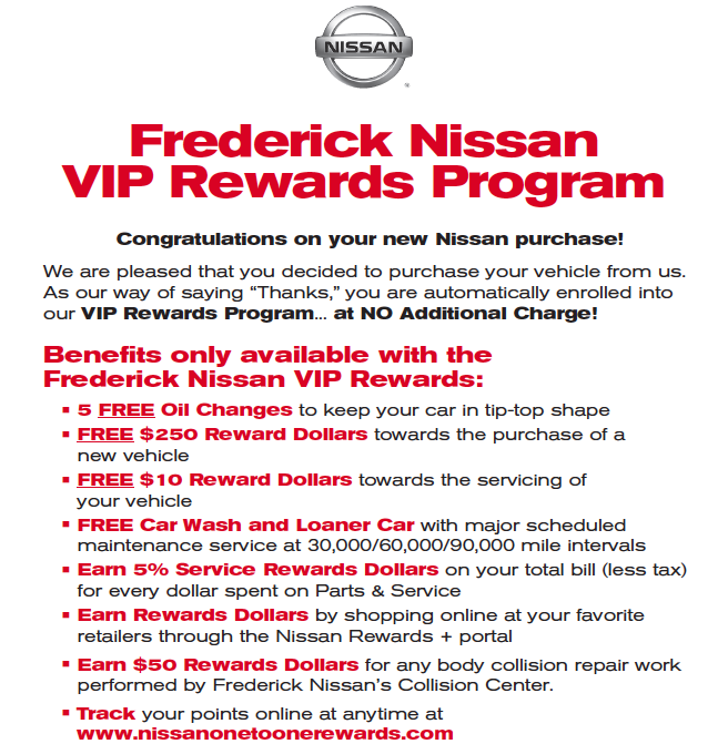 Nissan Loyalty Program: Frederick Nissan's Most Wonderful Sales Event